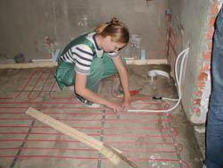 Монтаж электрического теплого пола в Салавате. электрический теплый пол